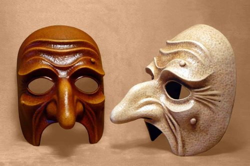 Pantaloon Ancient Commedia Dell'Arte Mask