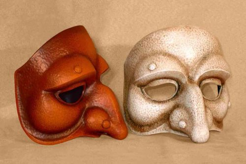 Punchinello Moonlike Commedia Dell'Arte Mask