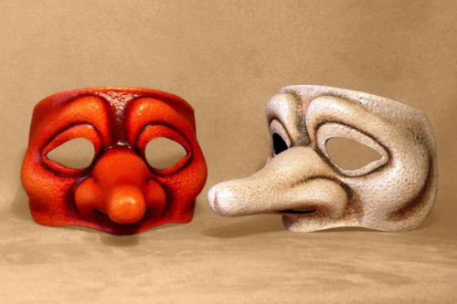 Zanni Ingenuous Commedia Dell'Arte Mask