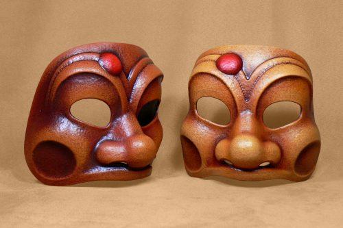Traditional Harlequin  Comedia Dell'Arte Mask