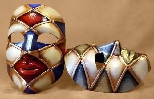 Neutral Harlequin Carnival Mask