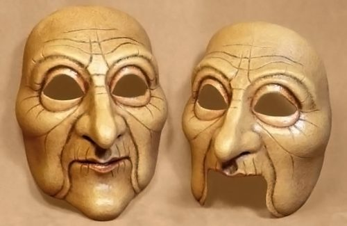 Old Lady Theatre Mask