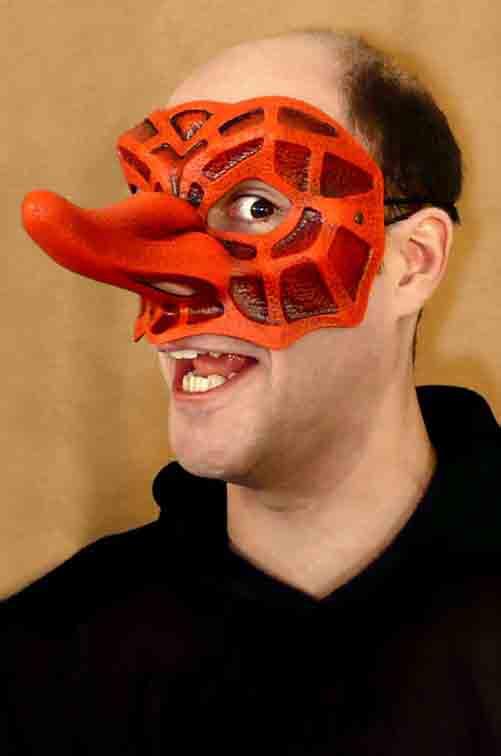 Captain Fracasso Commedia Dell'Arte Mask